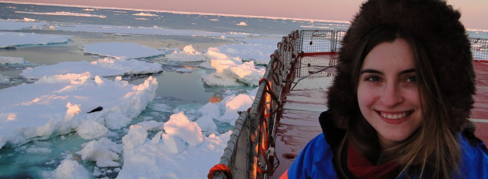Fiona Preston-Whyte on the  SA Agulhas in the Southern Ocean