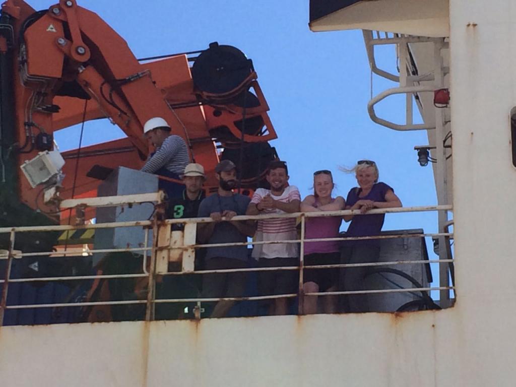 Team Bio-Optics on Leg 1 of the ACE cruise.