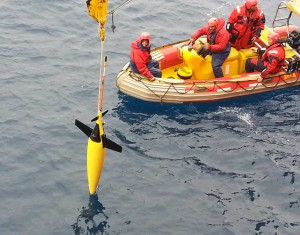 Buoyancy Glider: A buoyancy glider being retrieved on SANAE 53
